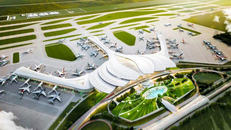Hình ảnh sân bay Long Thành bản 3D
