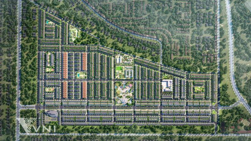 Dự án được thiết kế dạng ô bàn cờ với hạ tầng đầy đủ, thiết kế khoa học