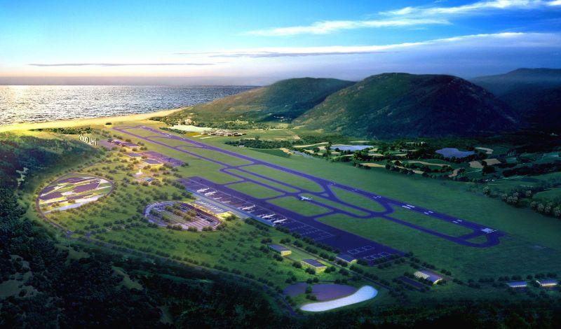 Sân bay nằm trên địa bàn xã Dương Tơ