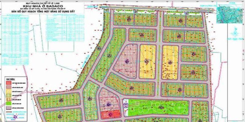 Bản thông tin quy hoạch này thể hiện lại mặt bằng, hạ tầng của dự án/ bất động sản
