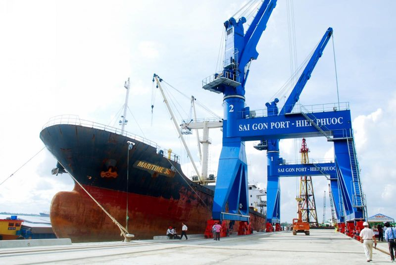 Cảng Hiệp Phước nằm trên sông Soài Rạp, huyện Nhà Bè, thành phố Hồ Chí Minh