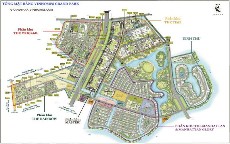 Tổng quan vị trí địa lý dự án Vinhomes Grand Park Quận 9