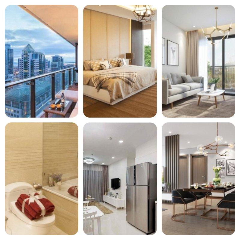 Các căn hộ được trang bị tiện nghi nội thất từ đầy đủ đến cao cấp