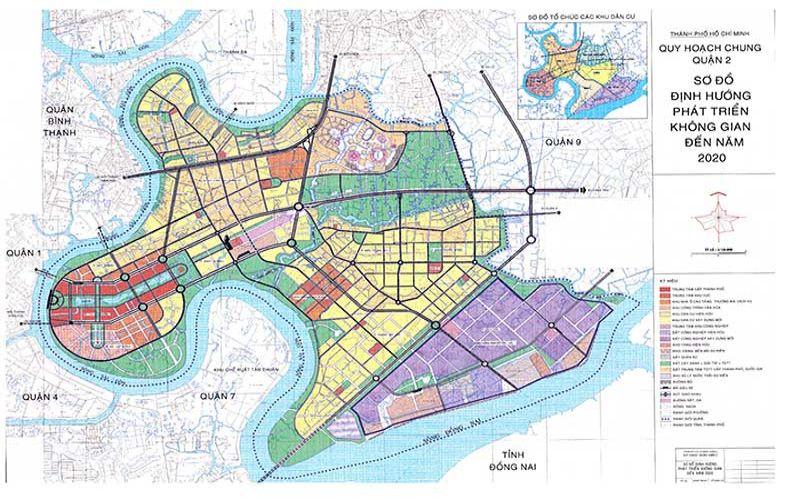 Bản đồ quy hoạch Quận 2 Khu Đông Sài Gòn