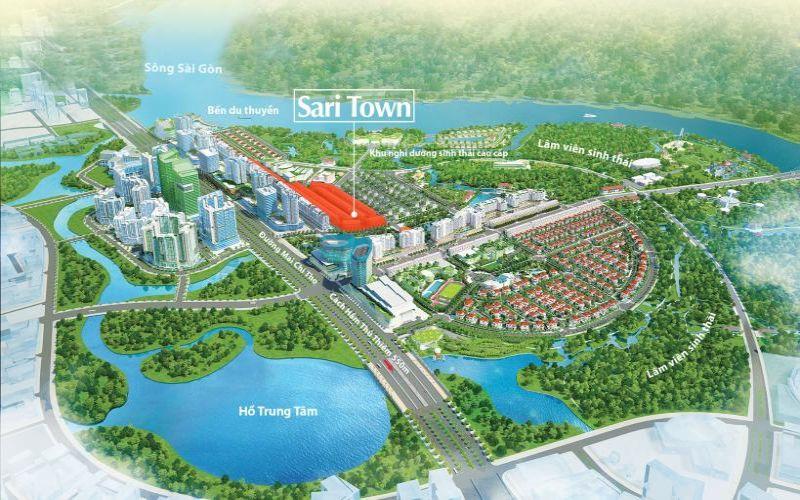 Mô phỏng hình ảnh dự án Sari Town Quận 2