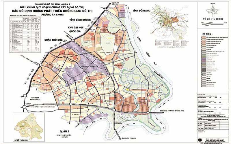 Bản đồ quy hoạch Quận 9 Khu Đông Sài Gòn