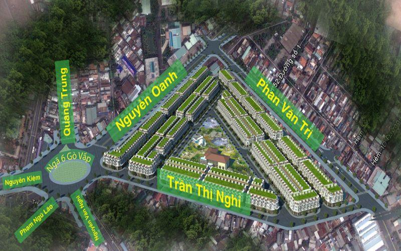 """Dự án Cityland Center Hills nằm tại vị trí """"tam giác vàng"""" Quận Gò Vấp."""