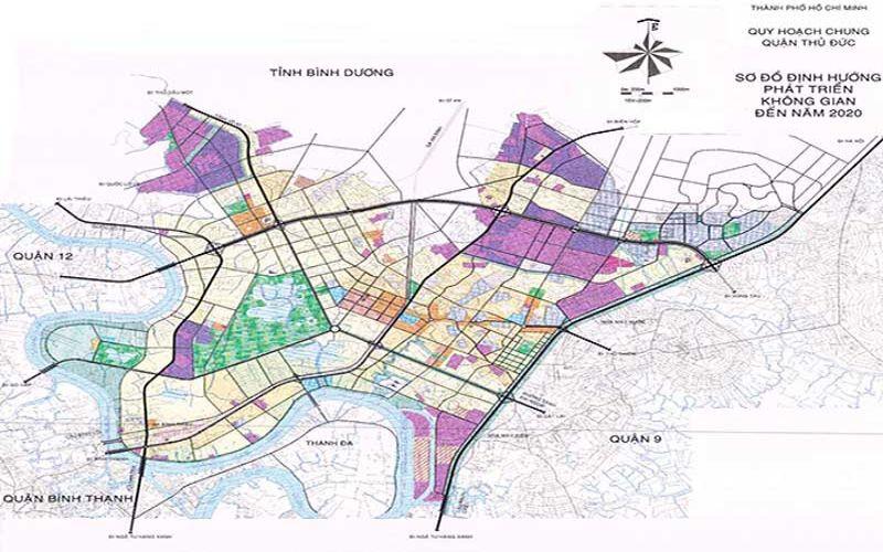 Bản đồ quy hoạch Quận Thủ Đức Khu Đông Sài Gòn