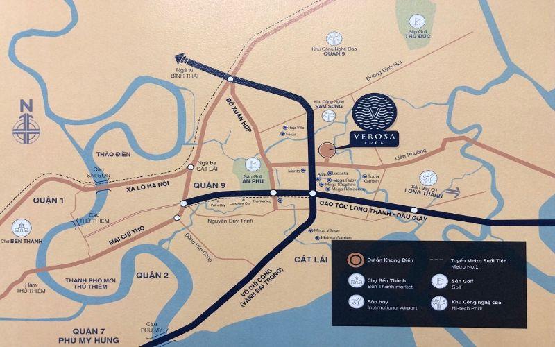 Kết nối giao thông đến các địa điểm, vùng lân cận đầy thuận lợi
