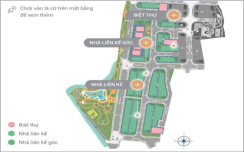Mặt bằng nhà biệt thự dự án Verosa Park Khang Điền